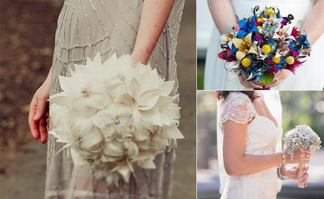 креативный букет невесты