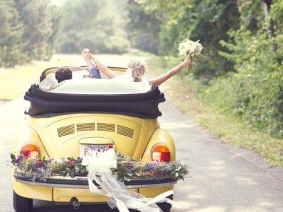 жёлтые автомобили на свадьбу необычные красивые фото