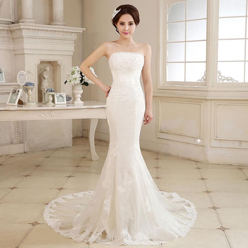 модное свадебное платье красивые советы по выбору с небольшим шлейфом