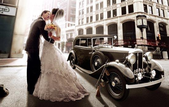 автомобили для свадьбы ретро