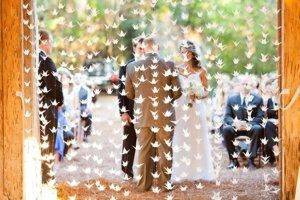 Бумажные журавлики на свадьбу