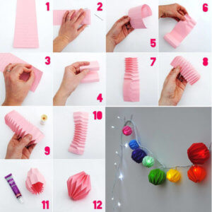 Как сделать фонарики из бумаги