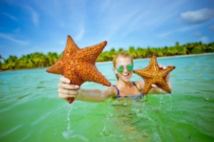медовый месяц, Доминикана, отдых на двоих, пляж, белый песок, киты, морская звезда, лазурная вода