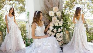 свадебные платья, идеи, коллекция, белое свадебное платье, персиковое свадебное платье, модные свадебные платья